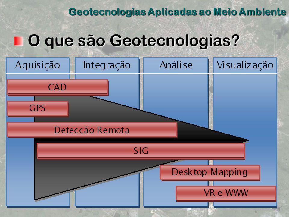 O que são Geotecnologias? O que são Geotecnologias? Geotecnologias Aplicadas ao Meio Ambiente