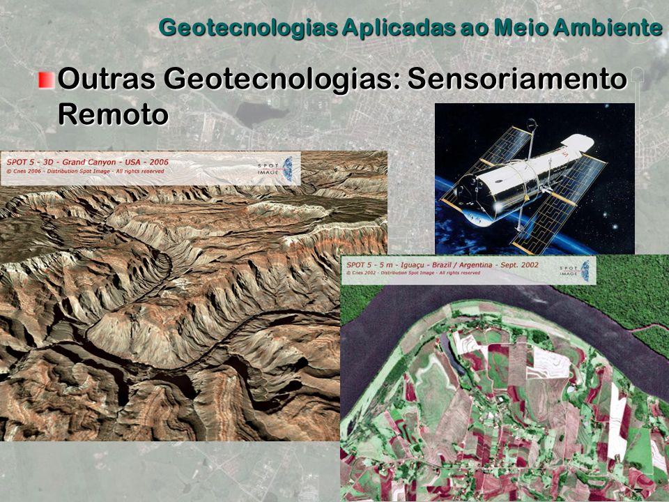 Outras Geotecnologias: Sensoriamento Remoto Geotecnologias Aplicadas ao Meio Ambiente