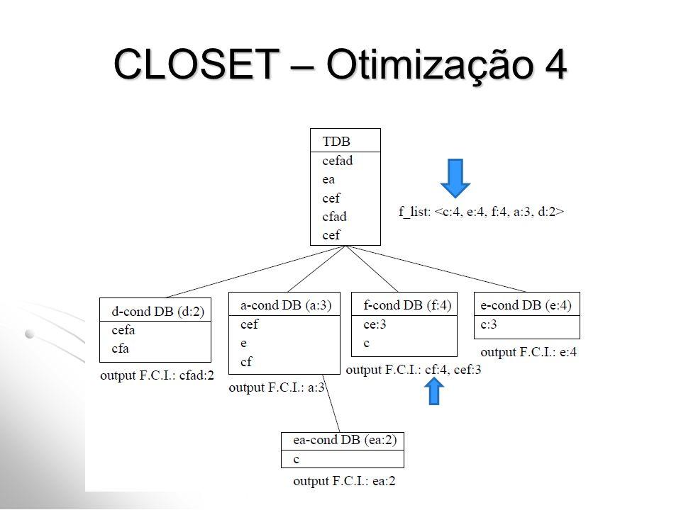 CLOSET – Otimização 4