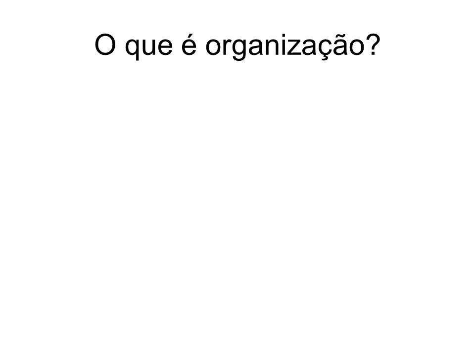 O que é organização?