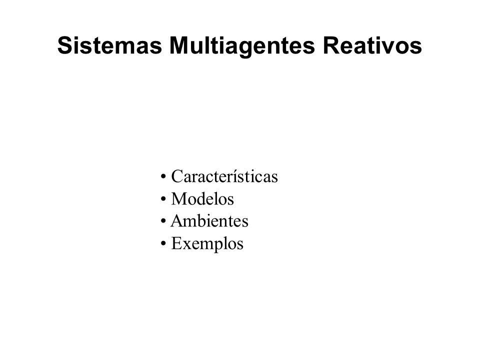 Sistemas Multiagentes Reativos Características Modelos Ambientes Exemplos