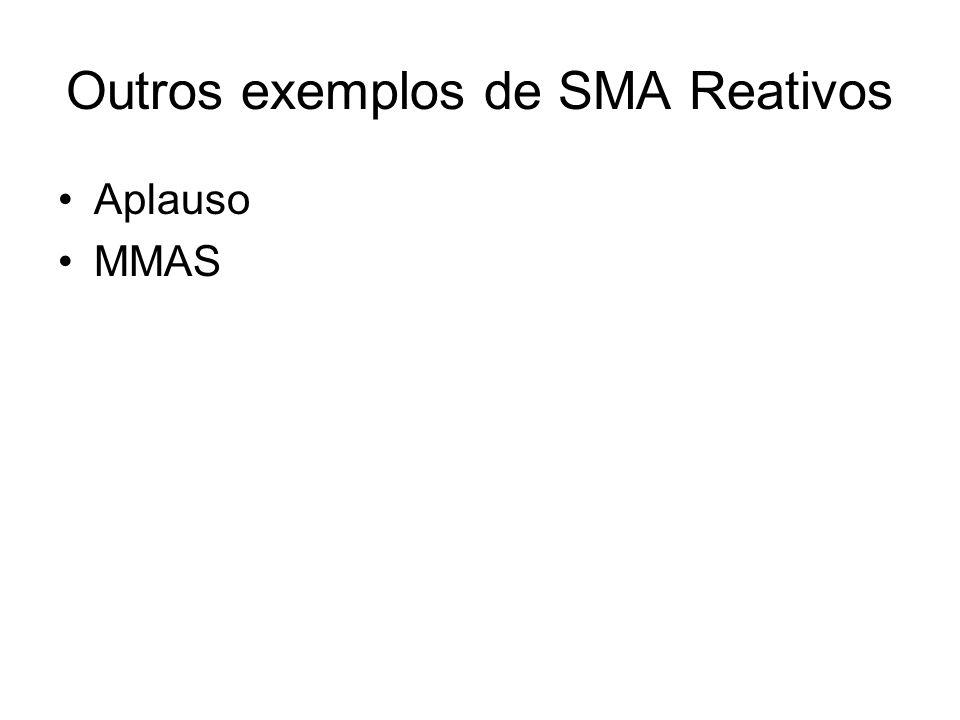 Outros exemplos de SMA Reativos Aplauso MMAS