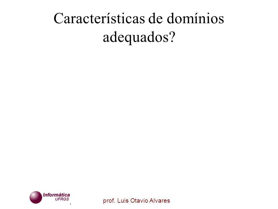 prof. Luis Otavio Alvares Características de domínios adequados?