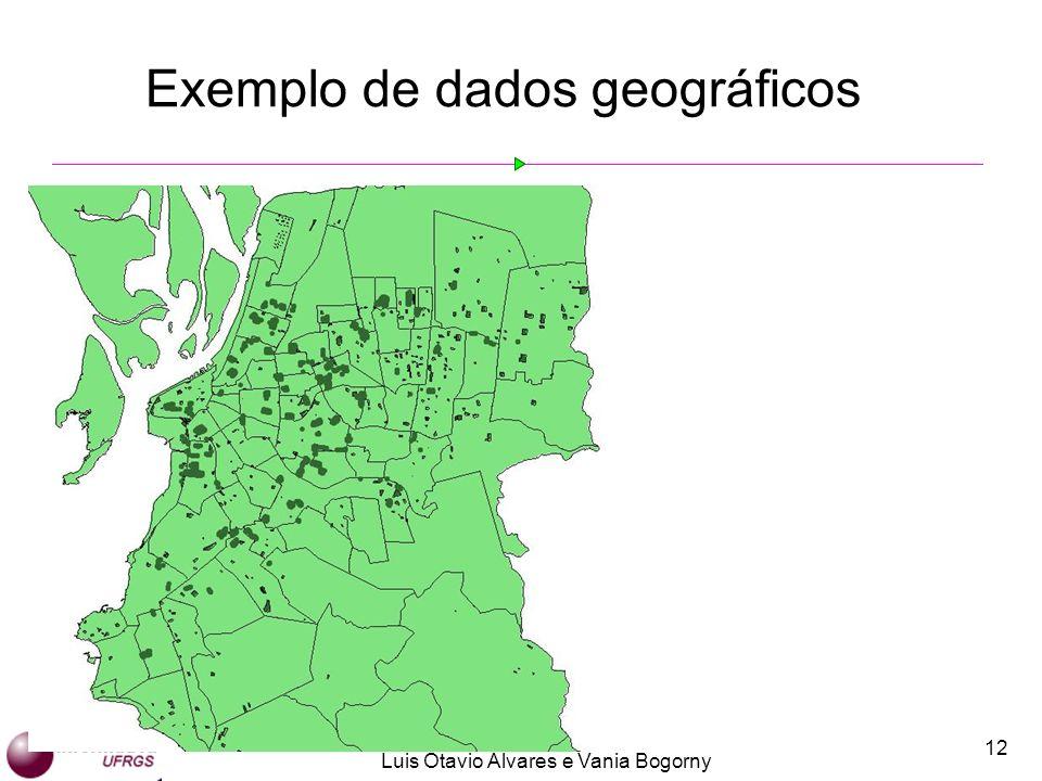 Luis Otavio Alvares e Vania Bogorny 12 Exemplo de dados geográficos