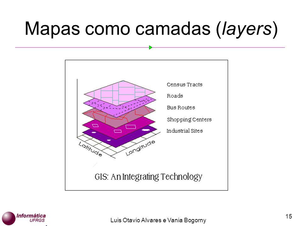 Luis Otavio Alvares e Vania Bogorny 15 Mapas como camadas (layers)