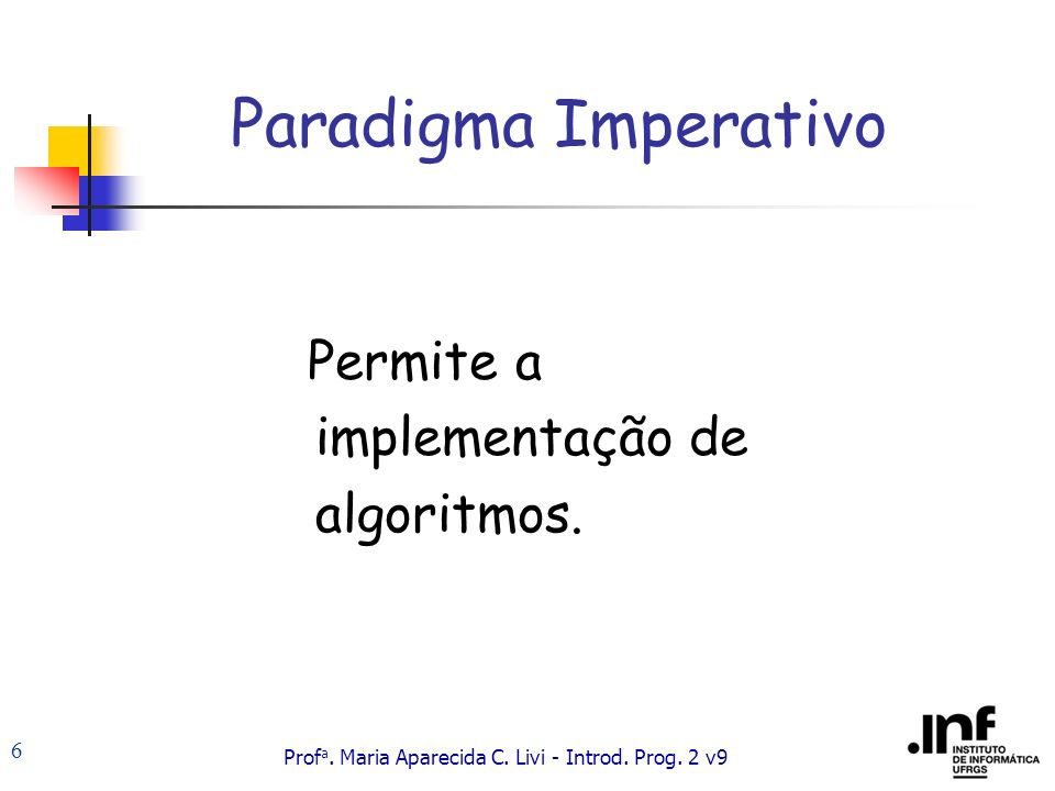 Prof a.Maria Aparecida C. Livi - Introd. Prog. 2 v9 17 Programa em C Constituído por funções.