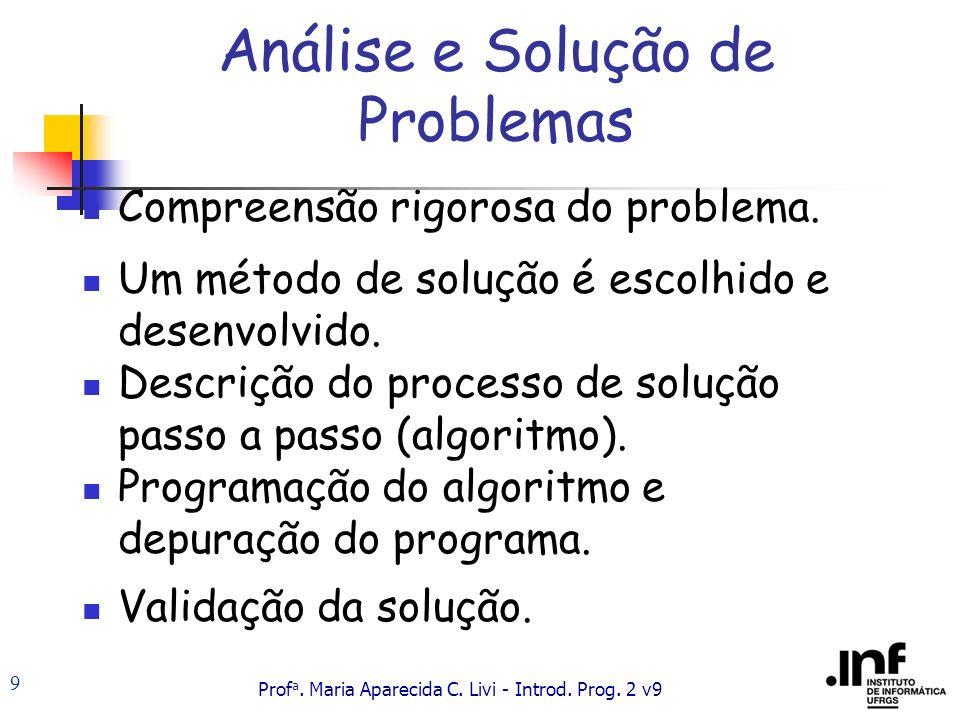 Prof a.Maria Aparecida C. Livi - Introd. Prog.