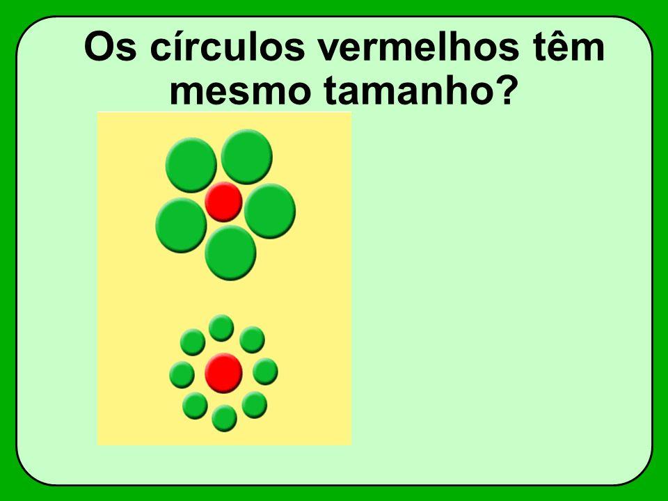 Os círculos vermelhos têm mesmo tamanho?