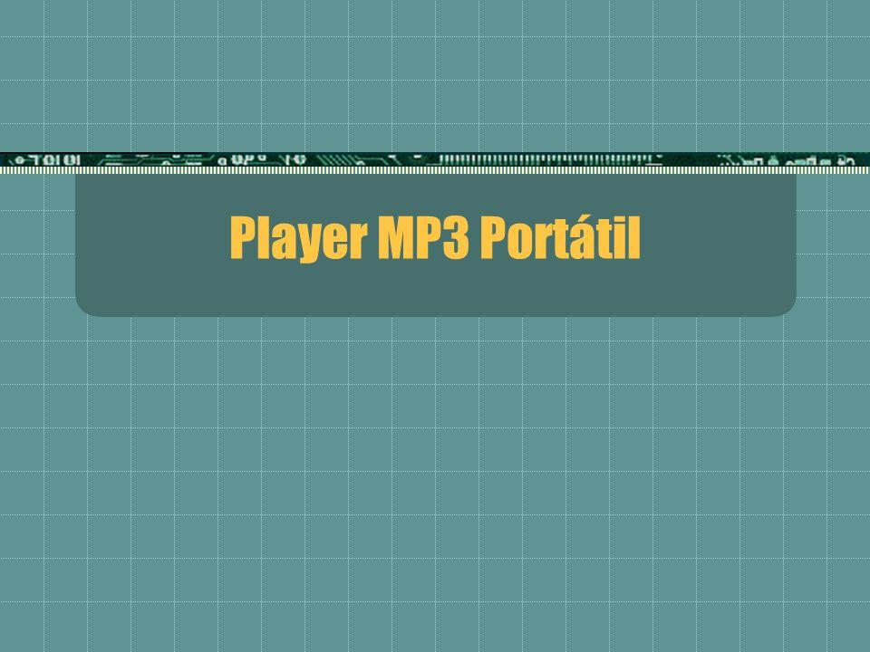 Indice Finalidade do MP3 Player; Padrão MP3; Sistema Player MP3 portátil; Partes do Player; Abordagens propostas; Projeto SoC; Usando um chip dedicado para decodificação; Usando um microprocessador DSP; Conclusões; Fontes.