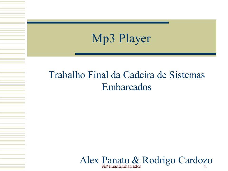 Sistemas Embarcados 1 Mp3 Player Trabalho Final da Cadeira de Sistemas Embarcados Alex Panato & Rodrigo Cardozo