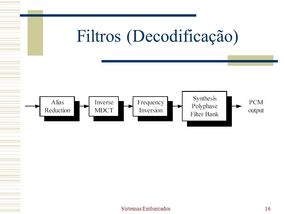 Sistemas Embarcados16 Filtros (Decodificação)
