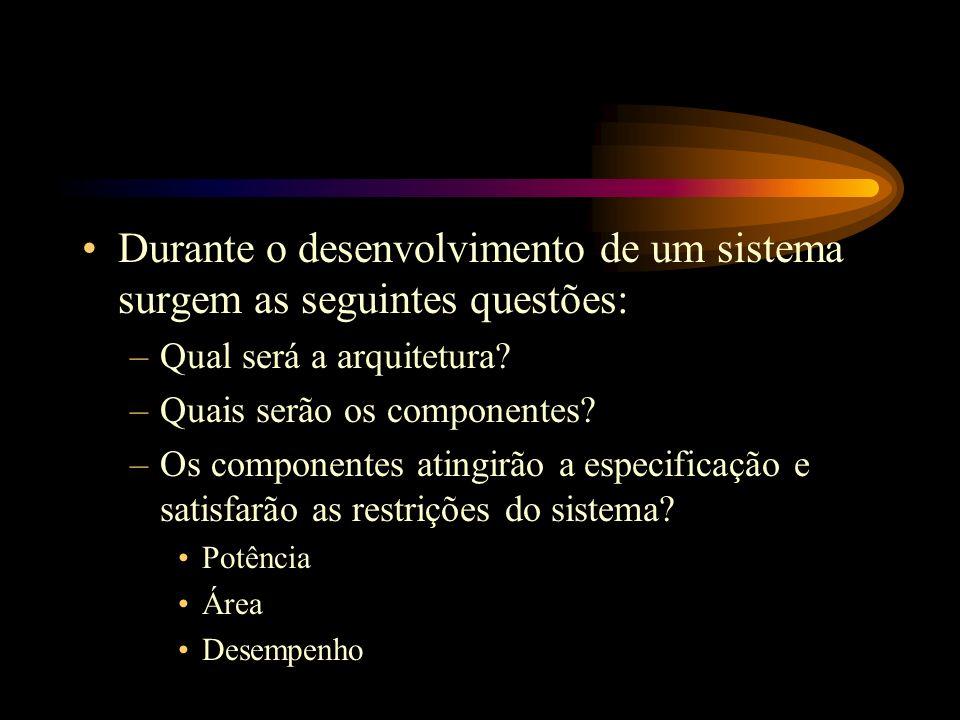 Durante o desenvolvimento de um sistema surgem as seguintes questões: –Qual será a arquitetura.