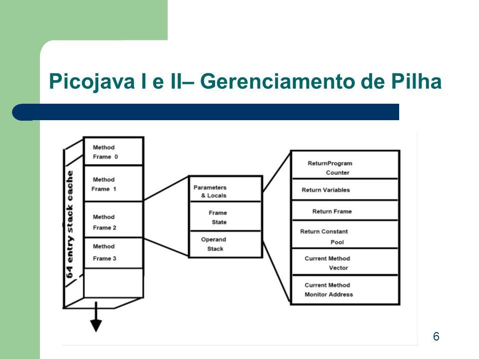 Picojava I e II– Gerenciamento de Pilha 6