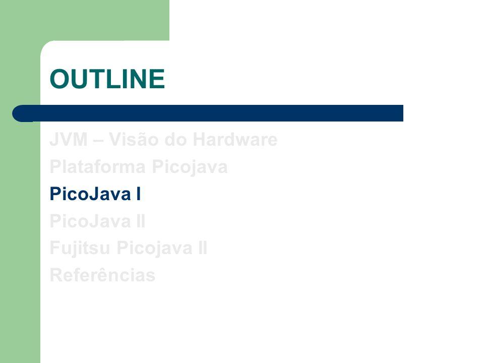 Picojava I – Características Primeiro processador Java para Sistemas Embarcados.