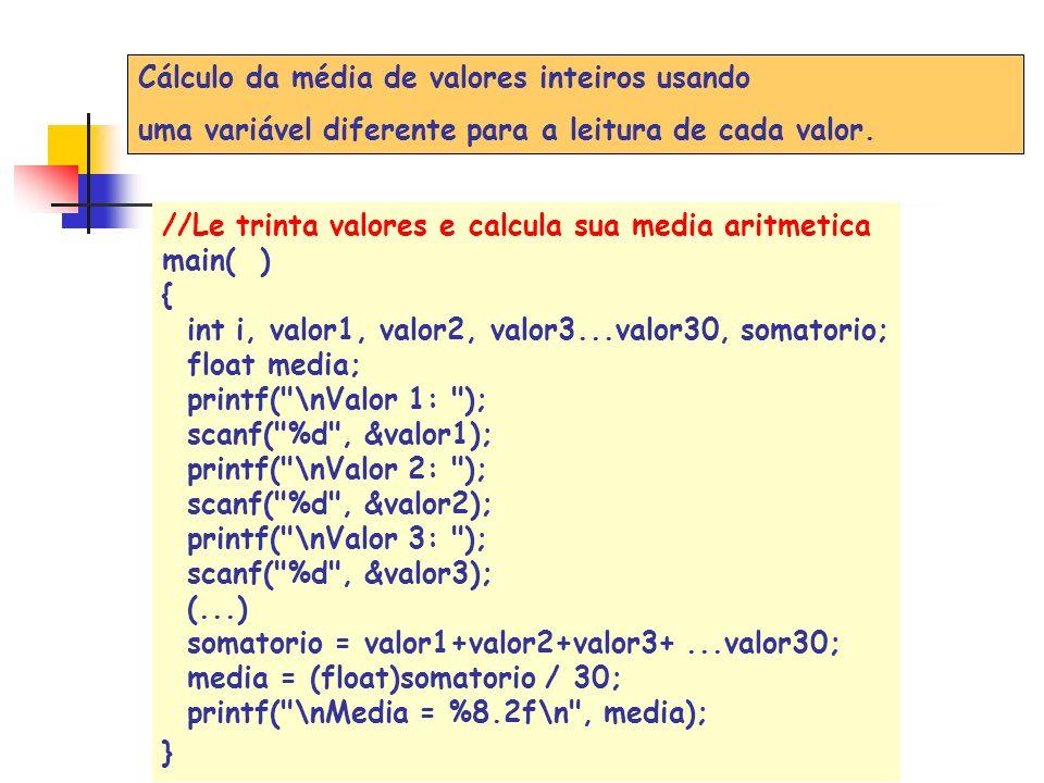 valor i = 1 valor[i] = 45 1045 0 1 2 3 4 Iteração 2 Posição = for (i = 0; i<MAX; i++) { printf(Valor %d:, i+ 1); scanf(%d, &valor[i]); } Criação de um vetor de 5 elementos: