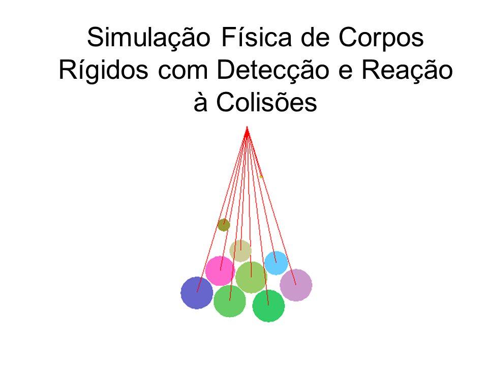 Detecção de Colisões Para N objetos, temos C(N,2) possíveis colisões.