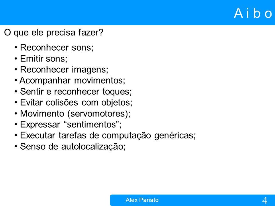 5 A i b o Alex Panato Como fazer estas tarefas.Aplicações genéricas Dimenções: Aprox.