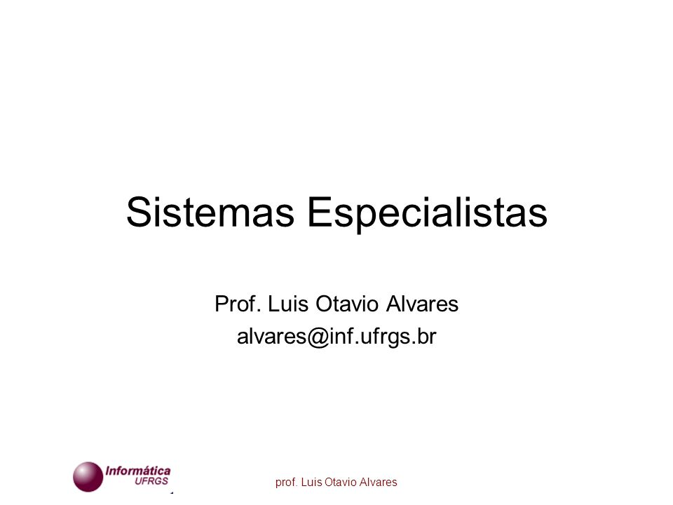 prof.Luis Otavio Alvares O que faz de um homem um especialista, um perito.