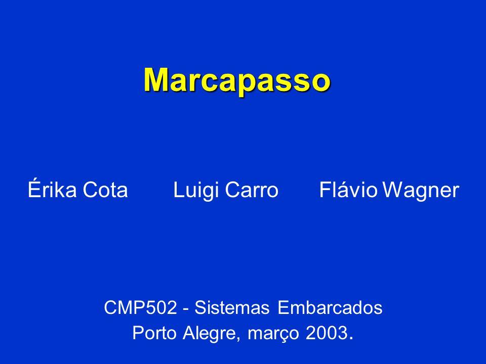 Marcapasso Érika Cota Luigi CarroFlávio Wagner CMP502 - Sistemas Embarcados Porto Alegre, março 2003.