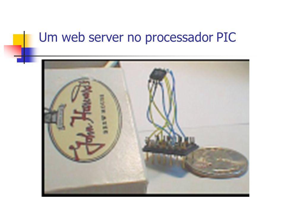 Um web server no processador FairchildACE1101MT8