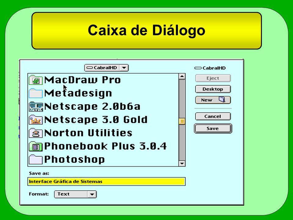 Caixa de Diálogo
