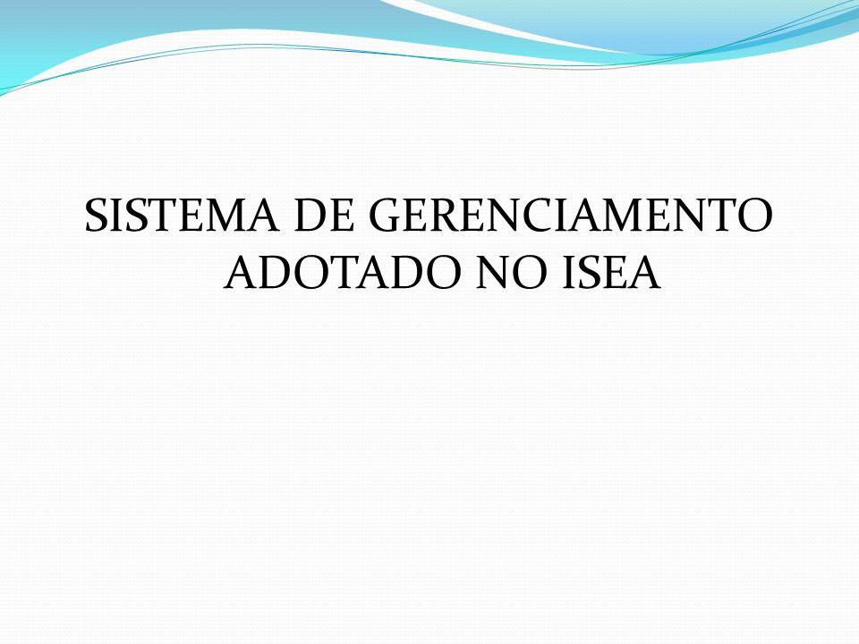 SISTEMA DE GERENCIAMENTO ADOTADO NO ISEA