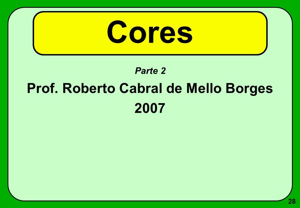 28 Cores Parte 2 Prof. Roberto Cabral de Mello Borges 2007