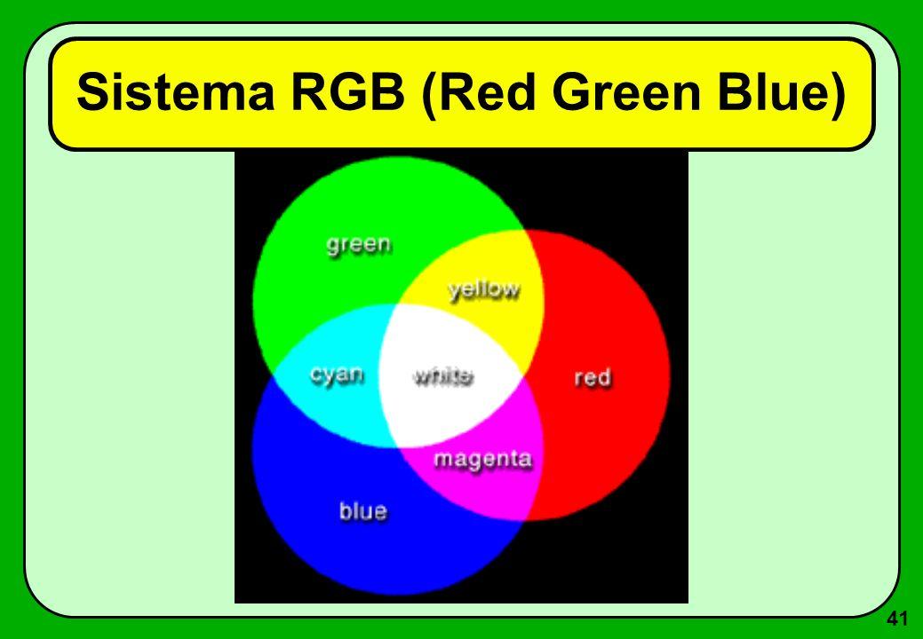 41 Sistema RGB (Red Green Blue)
