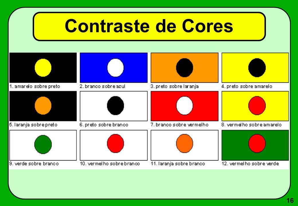 16 Contraste de Cores