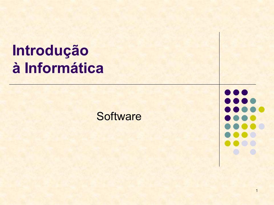 1 Introdução à Informática Software