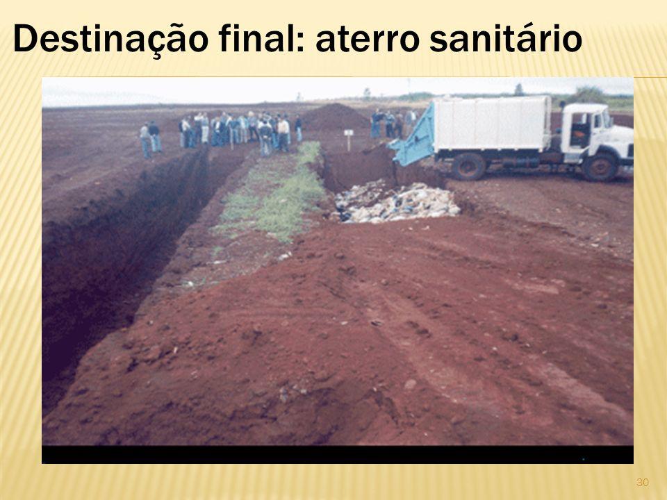 Destinação final: aterro sanitário 30