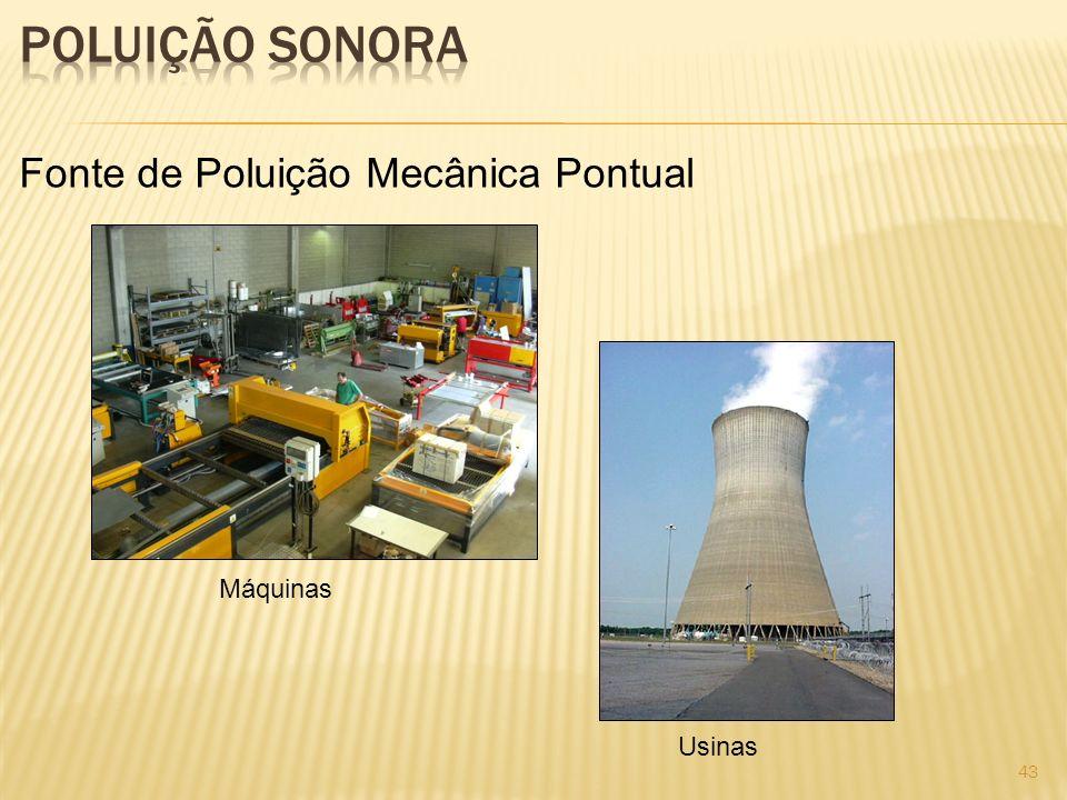 Fonte de Poluição Mecânica Pontual Máquinas Usinas 43