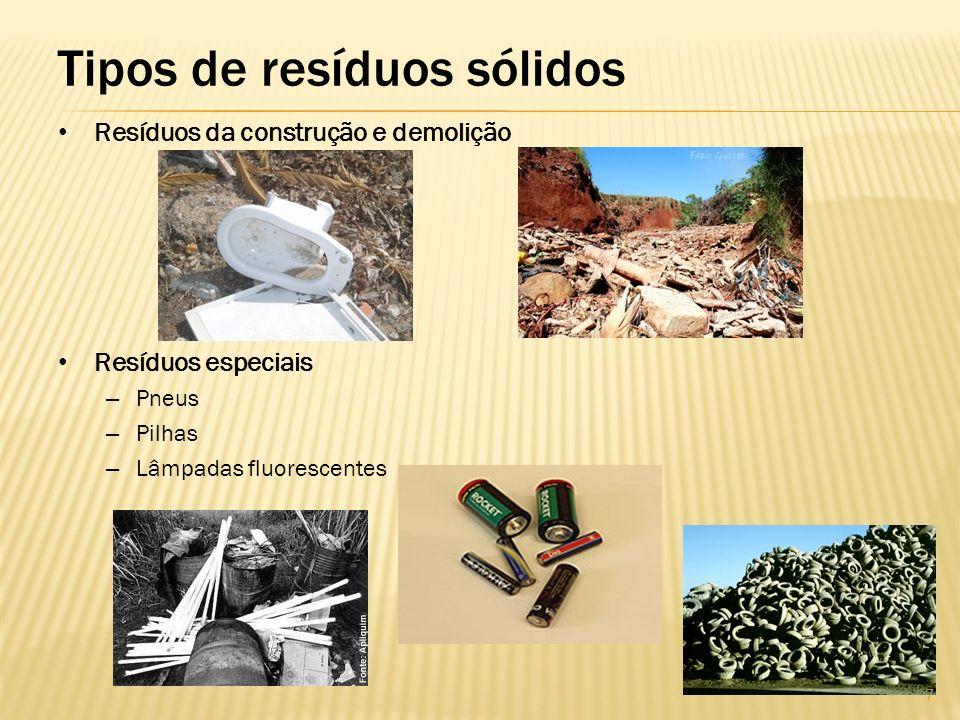 Segregação Separação dos resíduos no momento e local de sua geração.