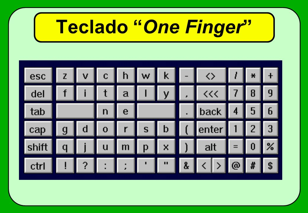 Teclado One Finger