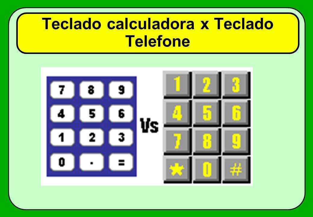 Teclado calculadora x Teclado Telefone
