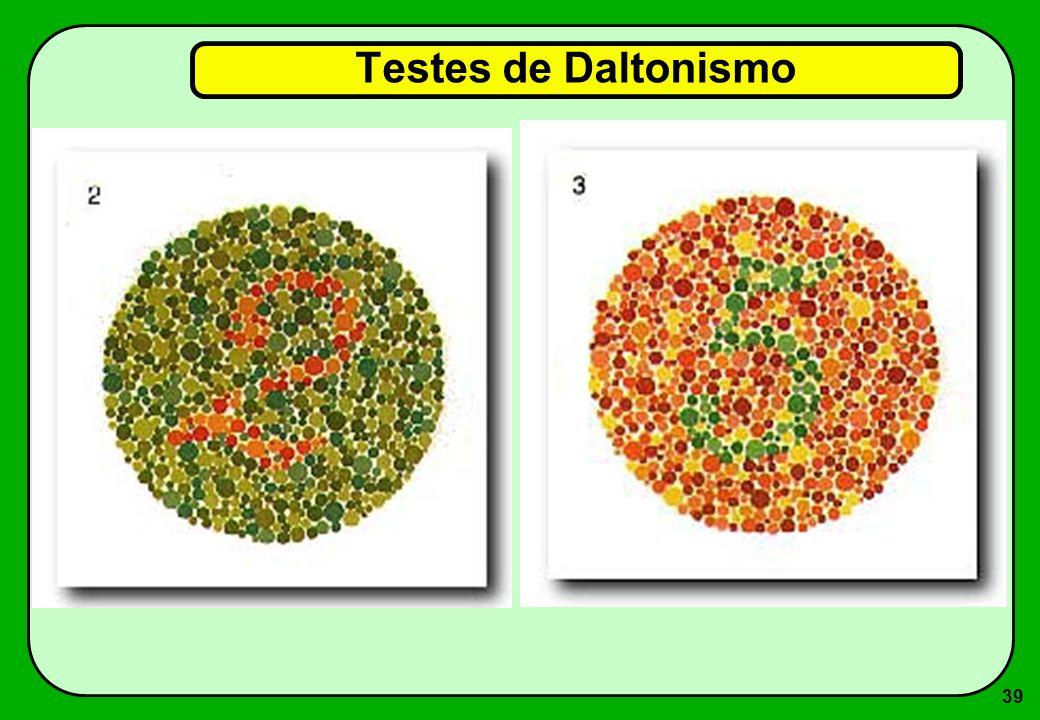 39 Testes de Daltonismo