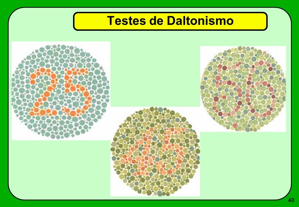 40 Testes de Daltonismo