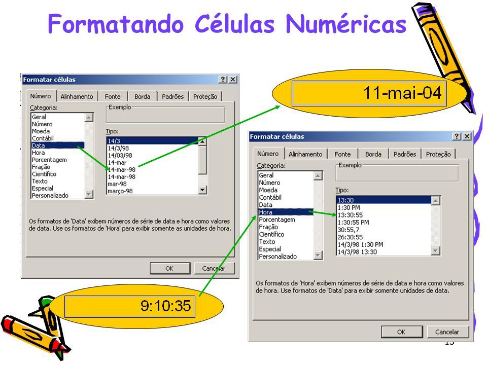 13 Formatando Células Numéricas