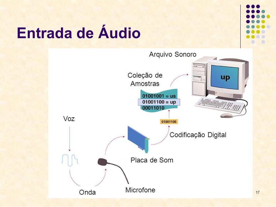17 Entrada de Áudio Voz Onda Microfone Placa de Som Codificação Digital Coleção de Amostras Arquivo Sonoro