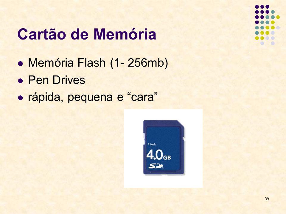 39 Cartão de Memória Memória Flash (1- 256mb) Pen Drives rápida, pequena e cara