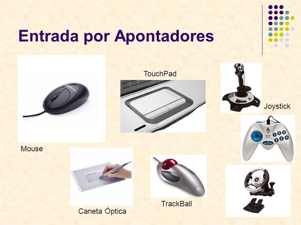 6 Entrada por Apontadores Mouse TouchPad Joystick Caneta Óptica TrackBall