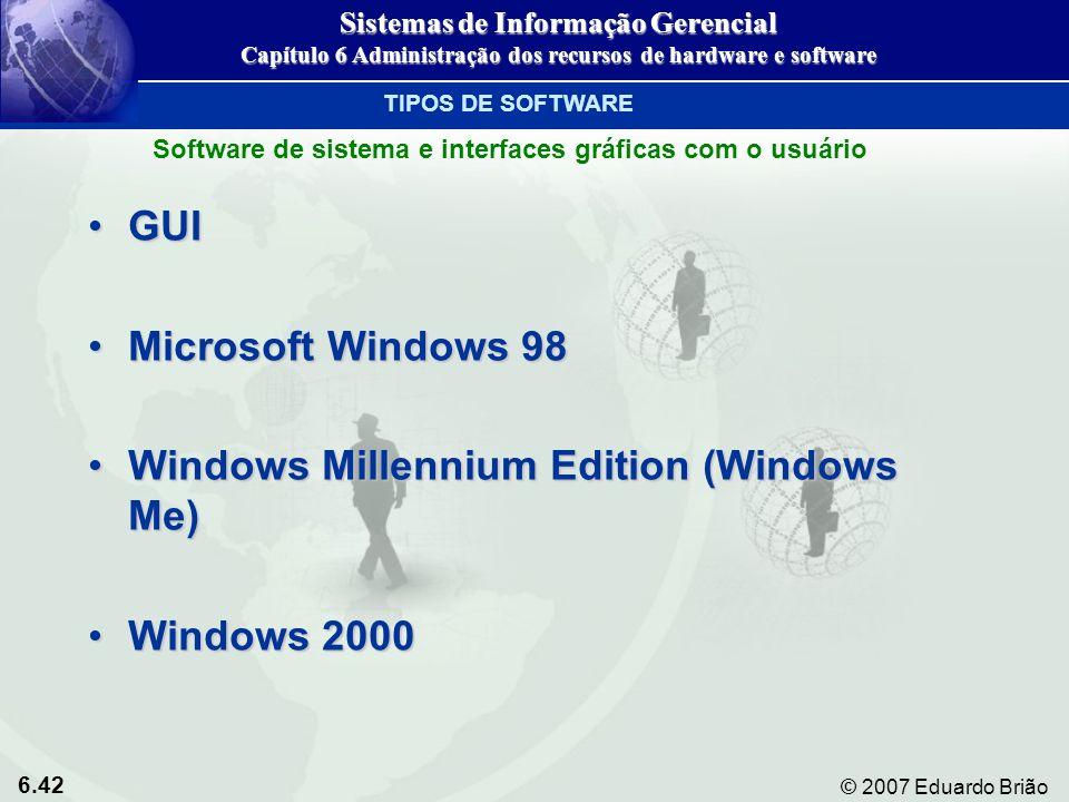 6.42 © 2007 Eduardo Brião GUIGUI Microsoft Windows 98Microsoft Windows 98 Windows Millennium Edition (Windows Me)Windows Millennium Edition (Windows M