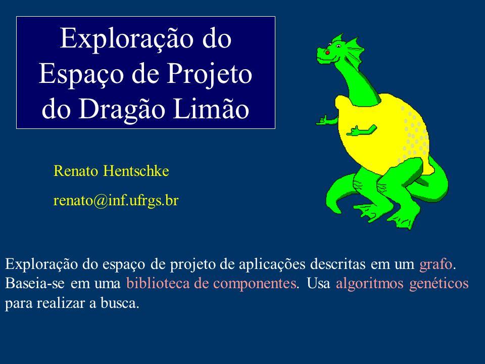 Exploração do Espaço de Projeto do Dragão Limão Renato Hentschke renato@inf.ufrgs.br Exploração do espaço de projeto de aplicações descritas em um grafo.