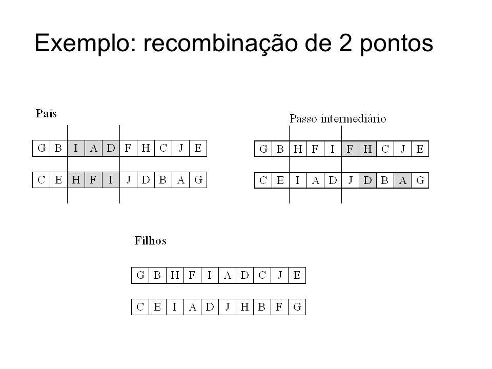 Exemplo: recombinação de 2 pontos