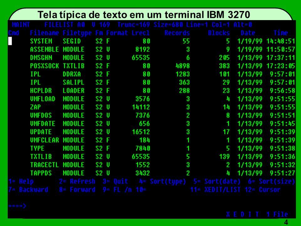 4 Tela típica de texto em um terminal IBM 3270
