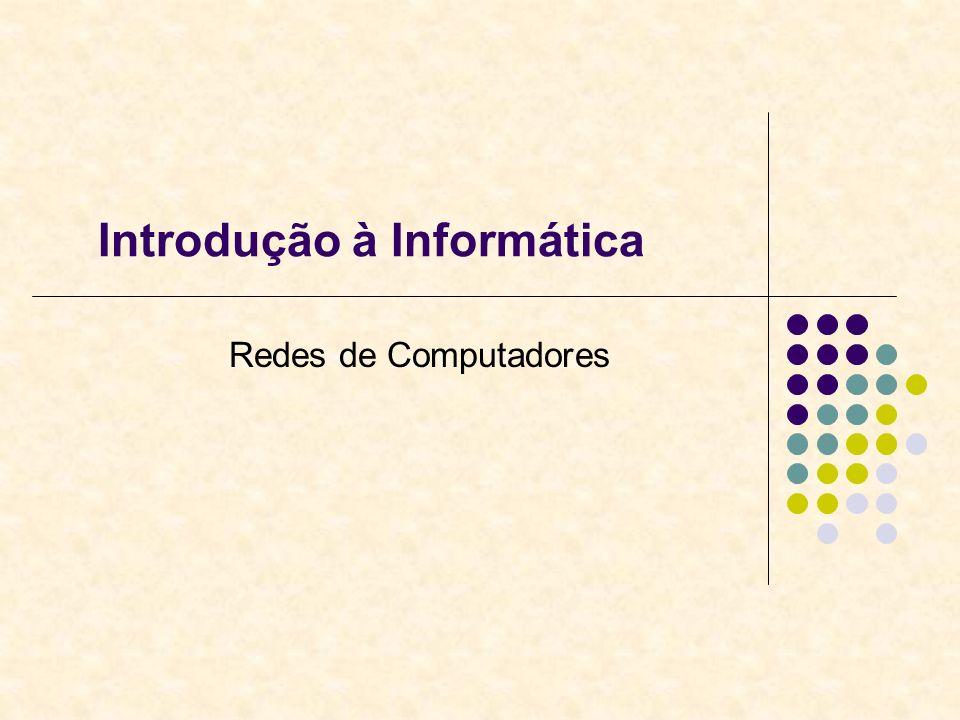 Introdução à Informática Redes de Computadores