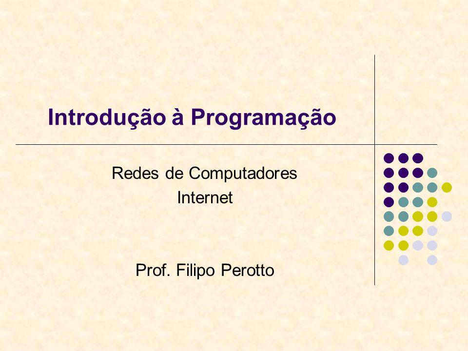Introdução à Programação Redes de Computadores Internet Prof. Filipo Perotto