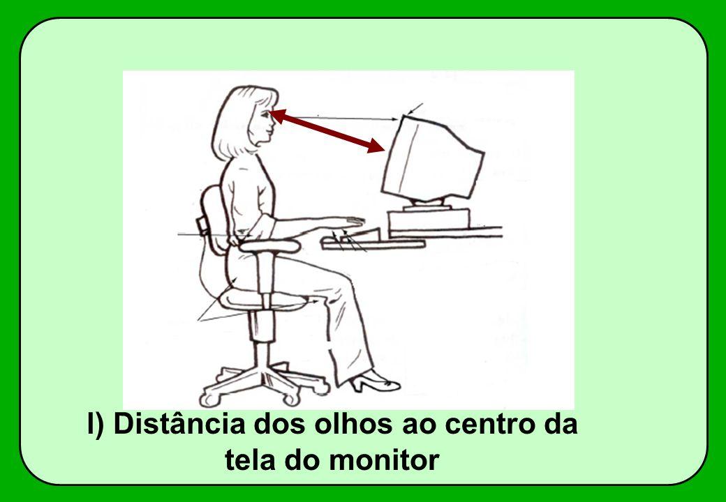 l) Distância dos olhos ao centro da tela do monitor