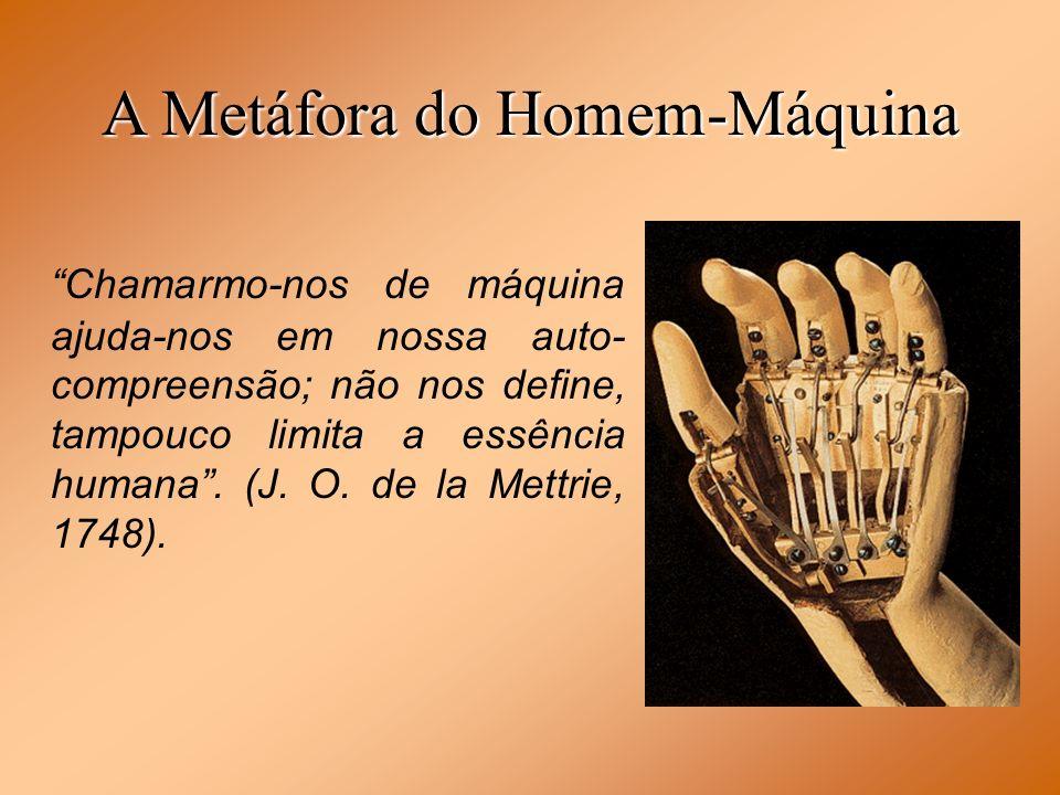 A Metáfora do Homem-Máquina Chamarmo-nos de máquina ajuda-nos em nossa auto- compreensão; não nos define, tampouco limita a essência humana. (J. O. de