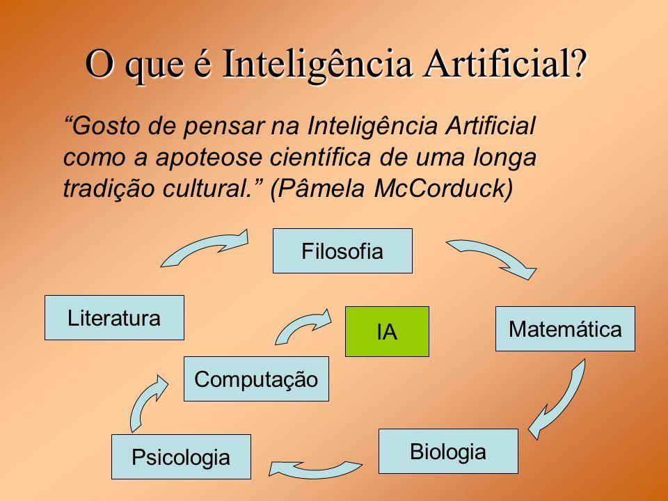 Gosto de pensar na Inteligência Artificial como a apoteose científica de uma longa tradição cultural. (Pâmela McCorduck) O que é Inteligência Artifici